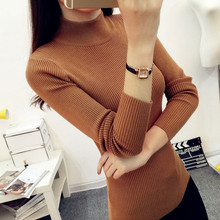 Autumn/winter women's wear half turtleneck sweater long sleeve knit sweater and knit sweater of the head of bottom of a sweater