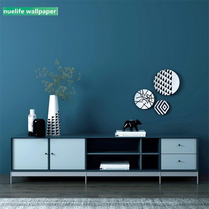 Best Deal #9089f - 0.53x10m Dark Blue Solid Color Wallpaper ...