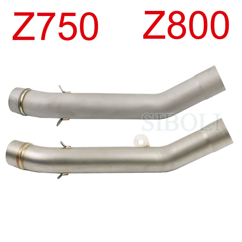 Motorcycle <font><b>Exhaust</b></font> Middle Link Pipe For <font><b>Kawasaki</b></font> <font><b>Z750</b></font> Z800 2010 2011 2012 2013 2014 Years Without <font><b>Exhaust</b></font> Muffler image