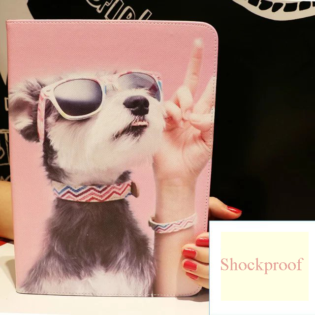 For Le Ipad Mini 1 2 3 7 9 Tablet Protective Case Pu Leather Fashion Dog Pattern Shockproof Full Body Cover In Tablets E Books From