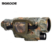 New Arrival Camouflage 5X40 Magnification HD Digital Night Vision Monocular Spotting Scope Telescope High Definition Eyepiece