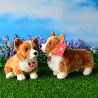 Sitting Cuddly Welsh Corgis Pembroke Plush Toys Lifelike Standing Corgi Dog Stuffed Animal Toy Birthday Gifts For Kids