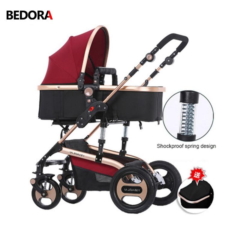 Bedora Strollers High landscape can sit reclining folding shock summer children's stroller pushchair Children's trolley mds808450 reclining wheelchairs