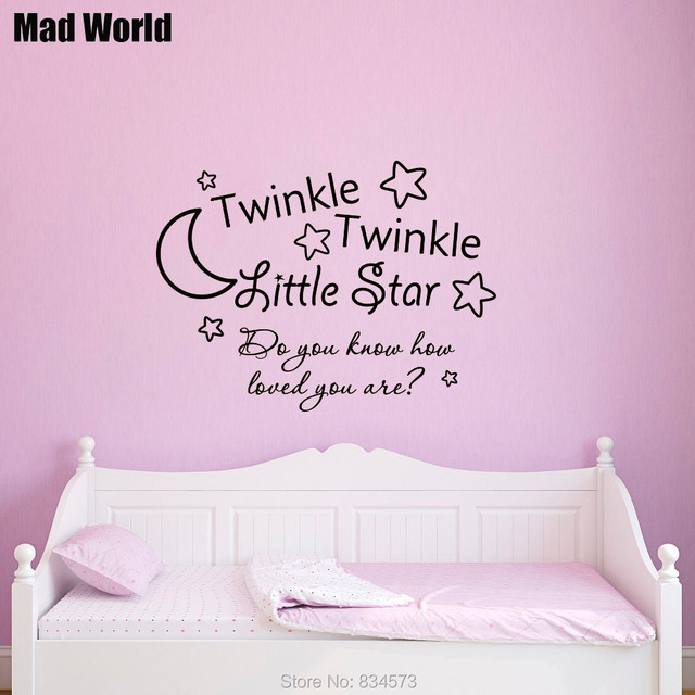 Mad World Twinkle Twinkle Little Star Quote Wall Art Stickers Wall ...