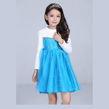Halloween Christmas gift cosplay costume princess dress anna elsa skirt party sequinned