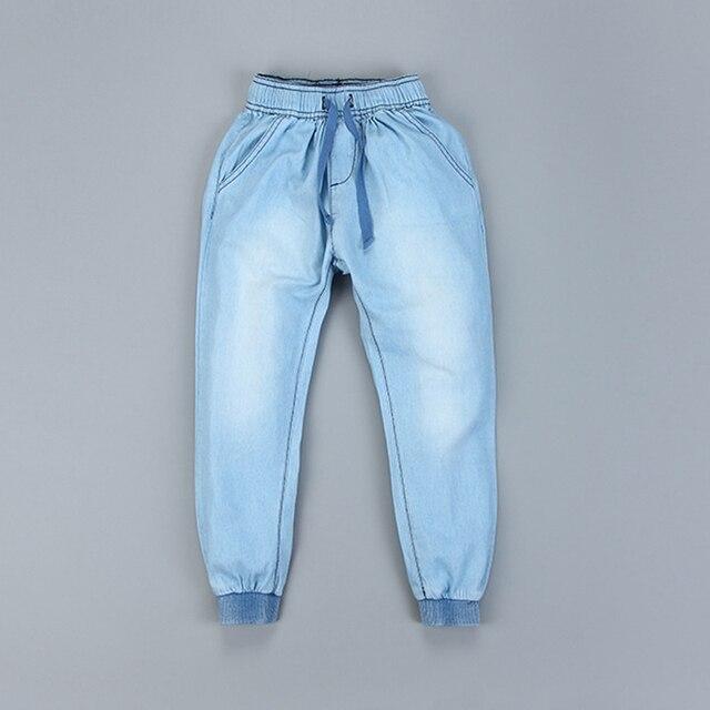 Весна большие мальчики длинные джинсы джинсовые брюки 2017 модная одежда для детей осень одежда брюк