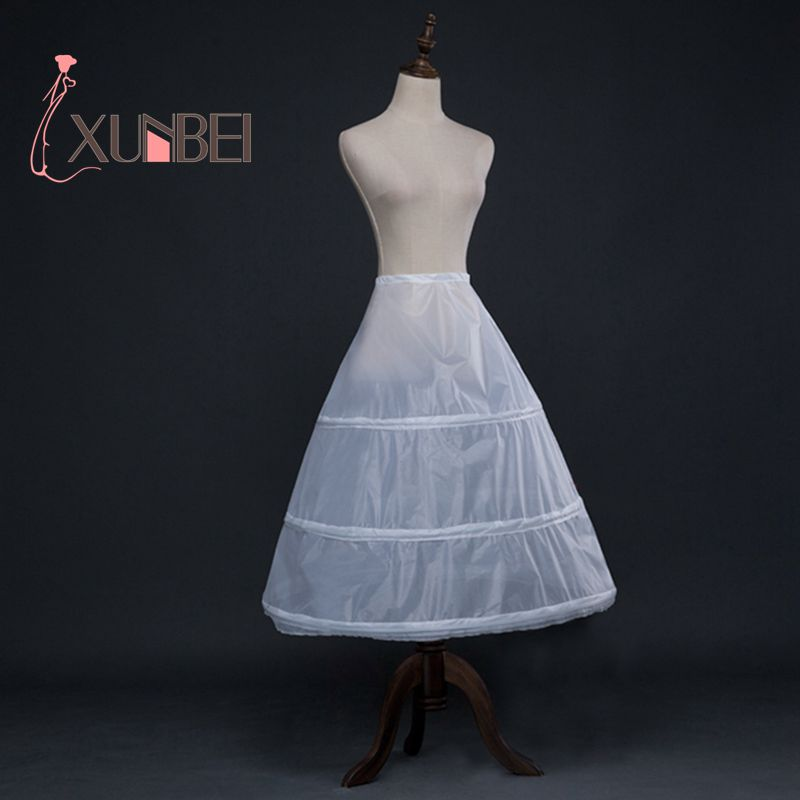 3 Hoops White A Line Long White Petticoats Teenager Ballet Petticoat Wedding Petticoats Crinoline Tutu Skirts Girls Underskirt