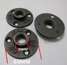 """Cast tubo di ferro flangia DN15 Classico Fusione di Ghisa Flangia 1/2 """"10 pz/lotto ghisa flange In lega di Alluminio flangia G3/4"""