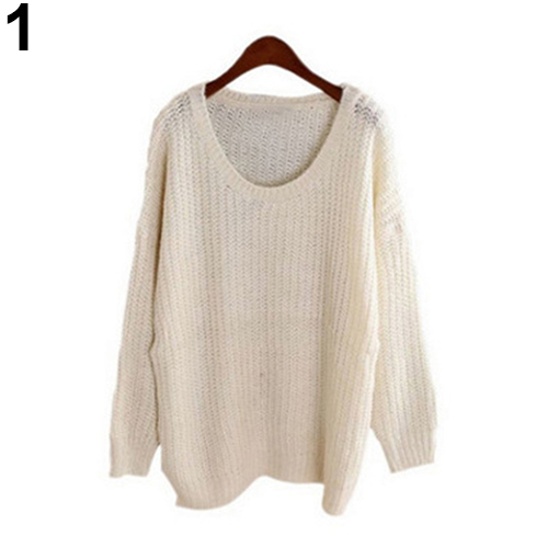 Women Oversized Knitted Sweater Batwing Sleeve Top Pullover Coat Loose Outwear Hot Sale