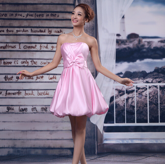 2016 sexy birthday outfits elegant formal short pink dress evening dresses pageant ball gowns S3755 - I And You Story store