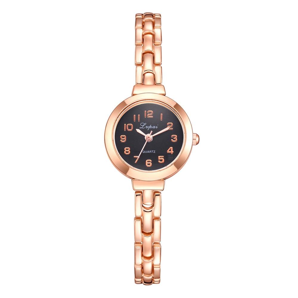 LVPAI High Quality Beautiful Fashion Alloy Steel Strip Women Bracelet Watch Exquisite Small Dial Clock Quartz WristWatch Gift #B