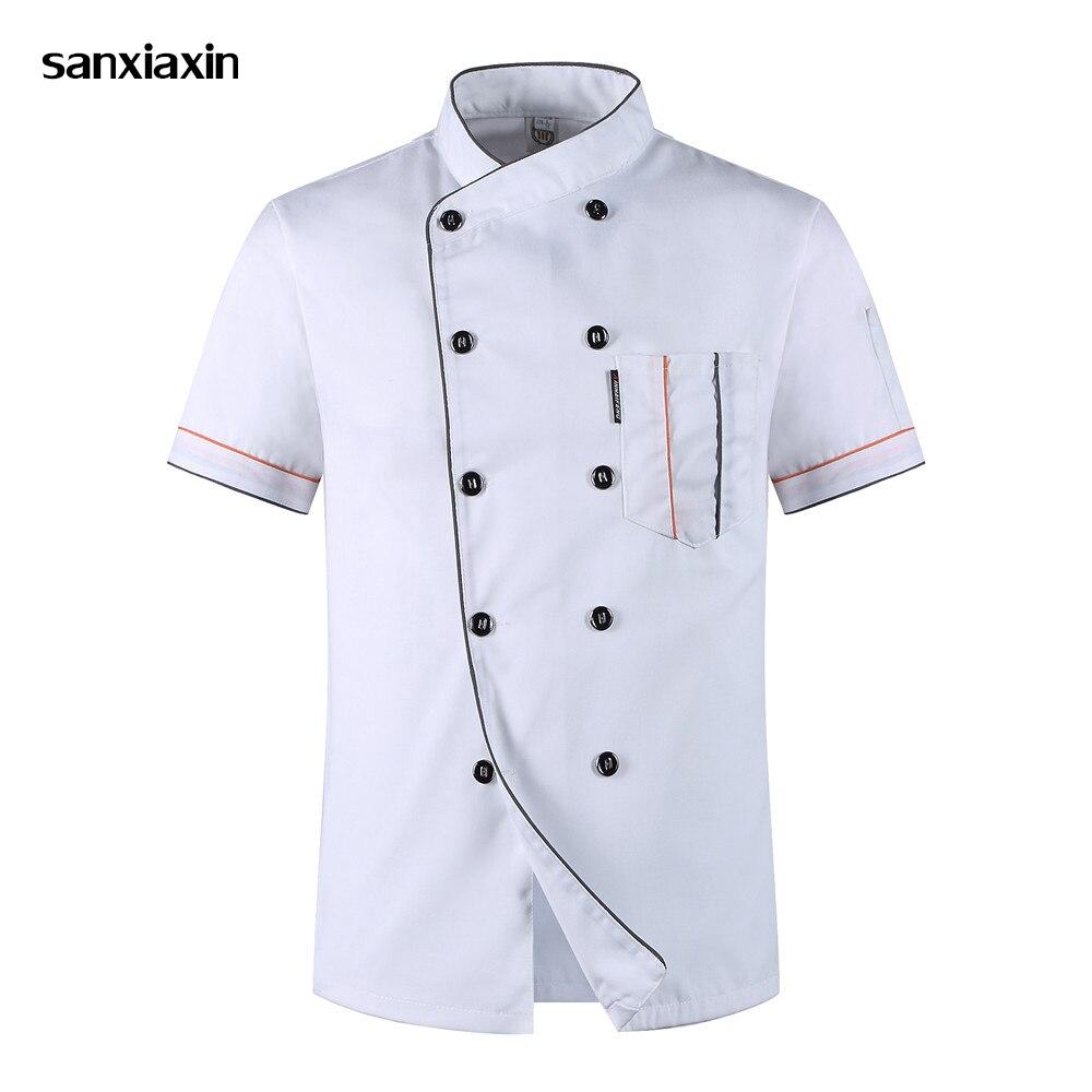 Chef Uniform Unisex Restaurant Uniform Wholesale Chef Jacket Hotel Chef's Uniform Short Sleeve Breathable Workwear Chef Uniforms