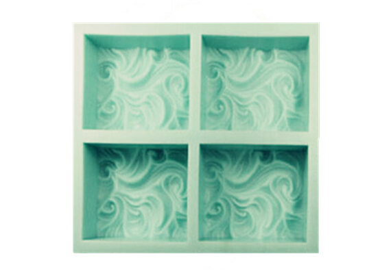 En gros 4 Trou nuages savon moule Silicone moule à Gâteau hansmade savon moule vagues pour livraison gratuite