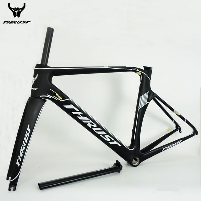 Thrust Carbon Frame 48 50 52 54 56cm Black Road Bike T1000 Carbon