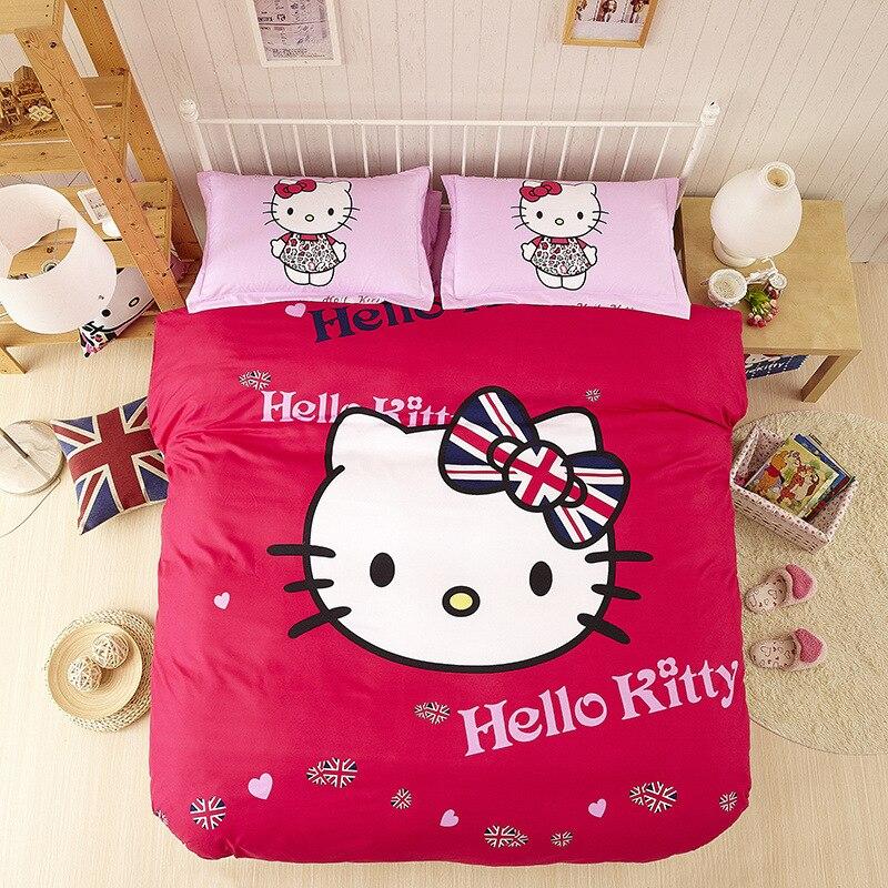 Sábana Funda Nórdica Textiles Para El hogar Hello Kitty Bandera Británica conjun