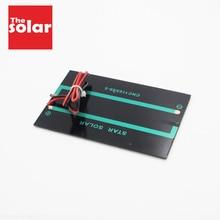 Dc 5V 250mA Verlengen Kabel Zonnepaneel Polykristallijn Silicium Diy Battery Charger Module Mini Zonnecel Draad Speelgoed