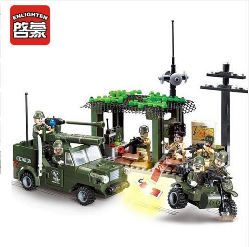 809 285pcs Military Constructor Model Kit Blocks Compatible LEGO Bricks Toys for Boys Girls Children Modeling809 285pcs Military Constructor Model Kit Blocks Compatible LEGO Bricks Toys for Boys Girls Children Modeling
