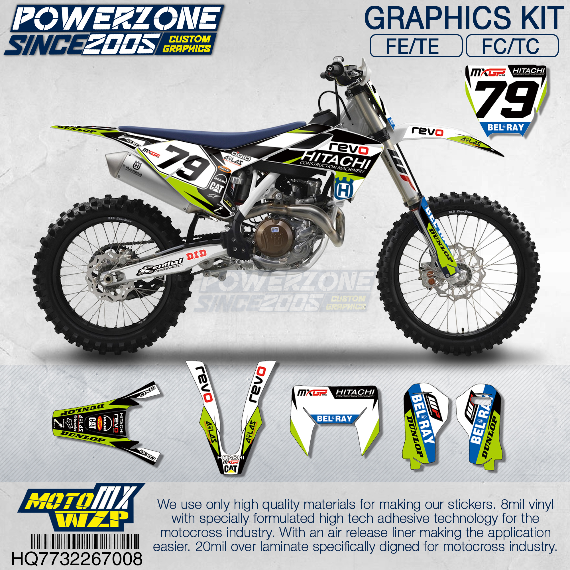 Customized Team Graphics Backgrounds Decals 3M Custom Stickers REVO Kit For Husqvarna 2014 19 FE TE