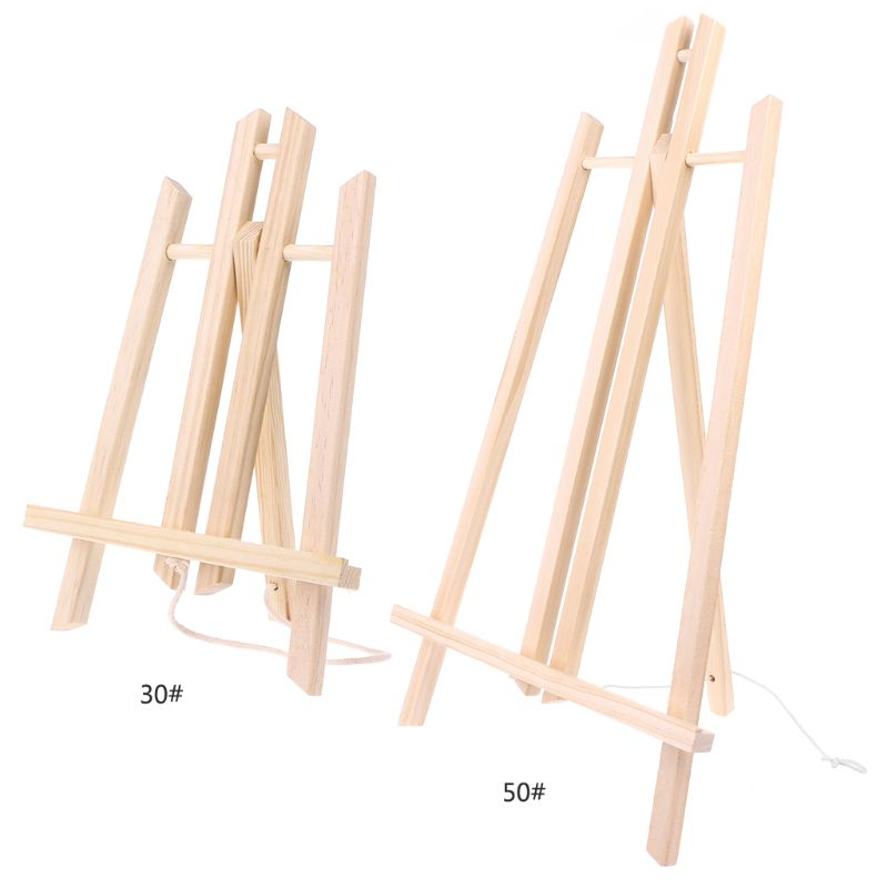 Top Quality 30cm/50cm Wood Easel Advertisement Exhibition Display Shelf Holder Studio Painting Stand