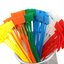 100pcs Easy mark 4*150mm Nylon Cable Ties tag labels Plastic loop markers Tag self-locking Zip