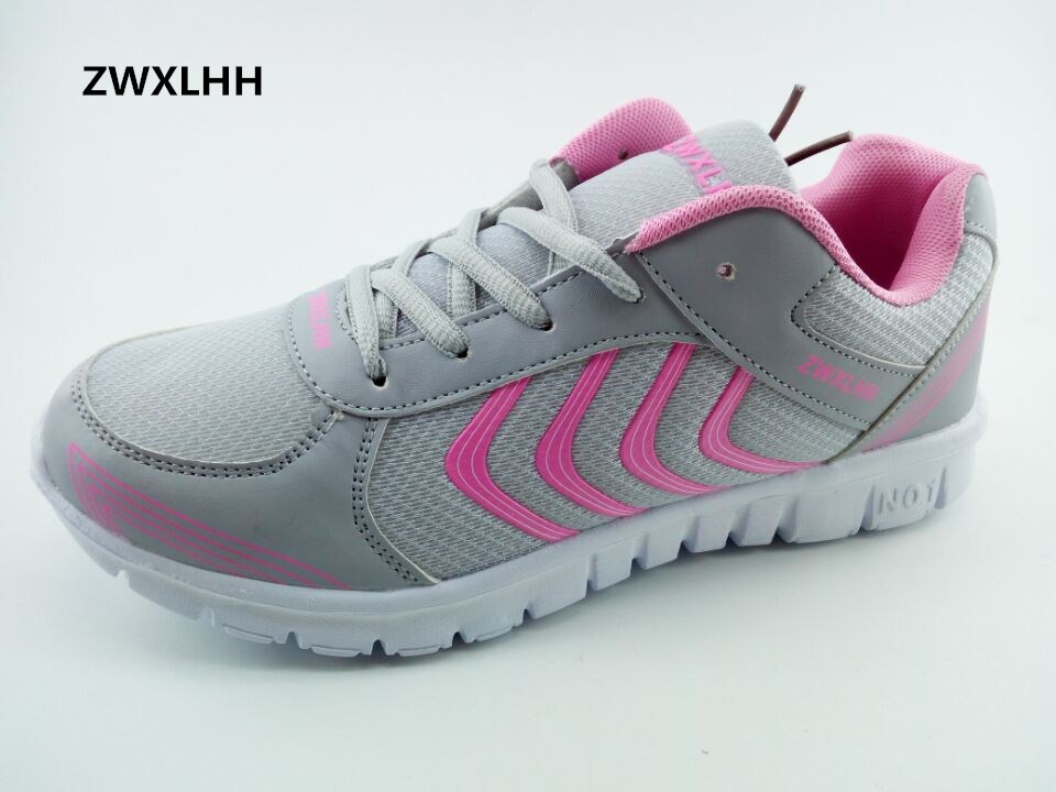 2018 spring new women's shoes, mesh breathable lightweight lady vulcanized shoes size 36-46