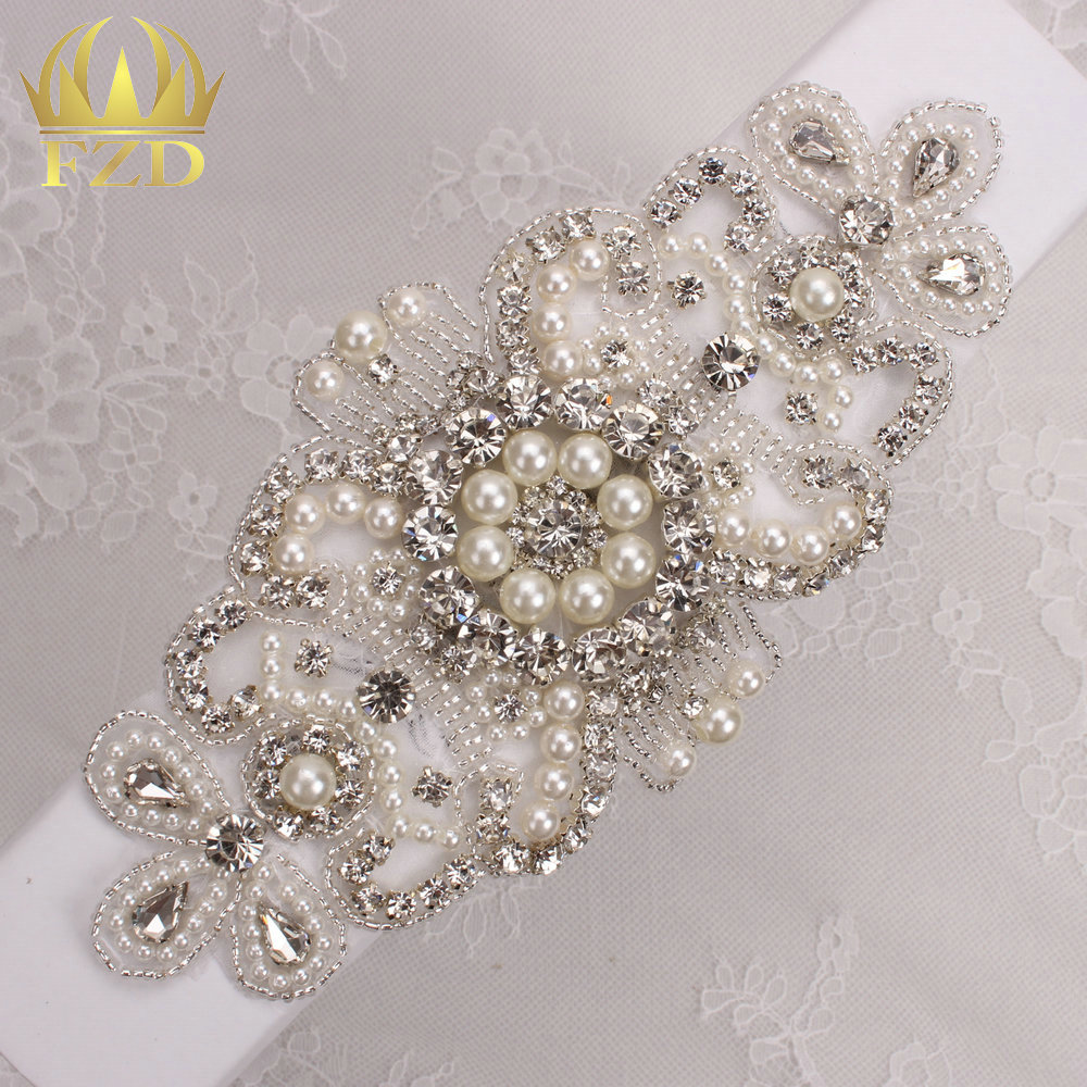 Diy beaded bridal headpiece -  30pieces Wholesale Hot Fix Iron On Beaded Rhinestone Applique Crystal Sew On Wedding Dress