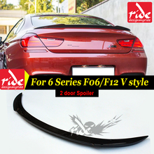 F06 Rear Trunk Spoiler Wing Carbon Fiber AEV Style For 6 Series & M Series 2Door F06 F12 Coupe F13 Convertible M6 spoiler 2012+ for bmw m6 carbon mirror cover m series m6 f06 f12 f13 carbon fiber rear side view caps mirror cover add on style styling 2012