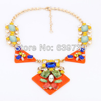 Xl00303 Colorful 18K Gold Sugar Dandy Necklace For Celebrating Spring Coming