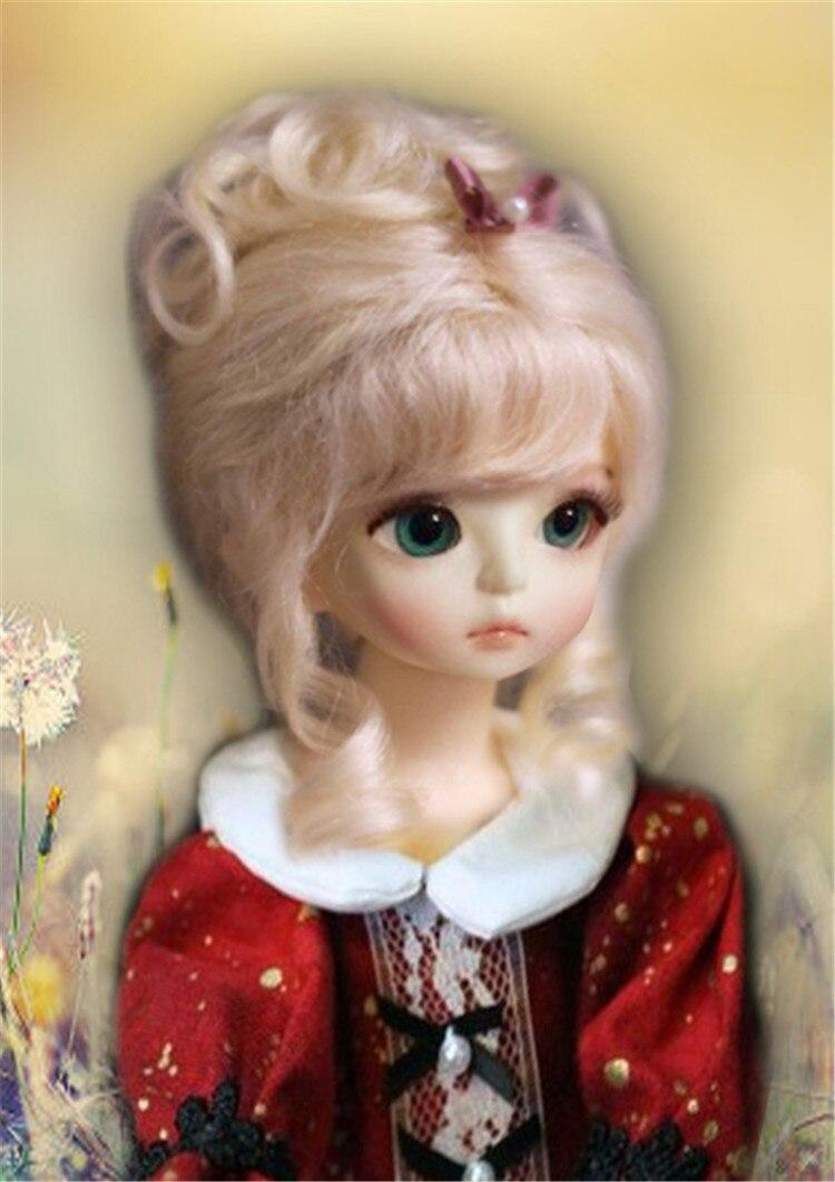 Wholesales----BJD wigs,Mohair doll wig 1/4 BJD doll wigs Free shipping 1 3 1 4 1 6 1 8 1 12 bjd wigs fashion light gray fur wig bjd sd short wig for diy dollfie