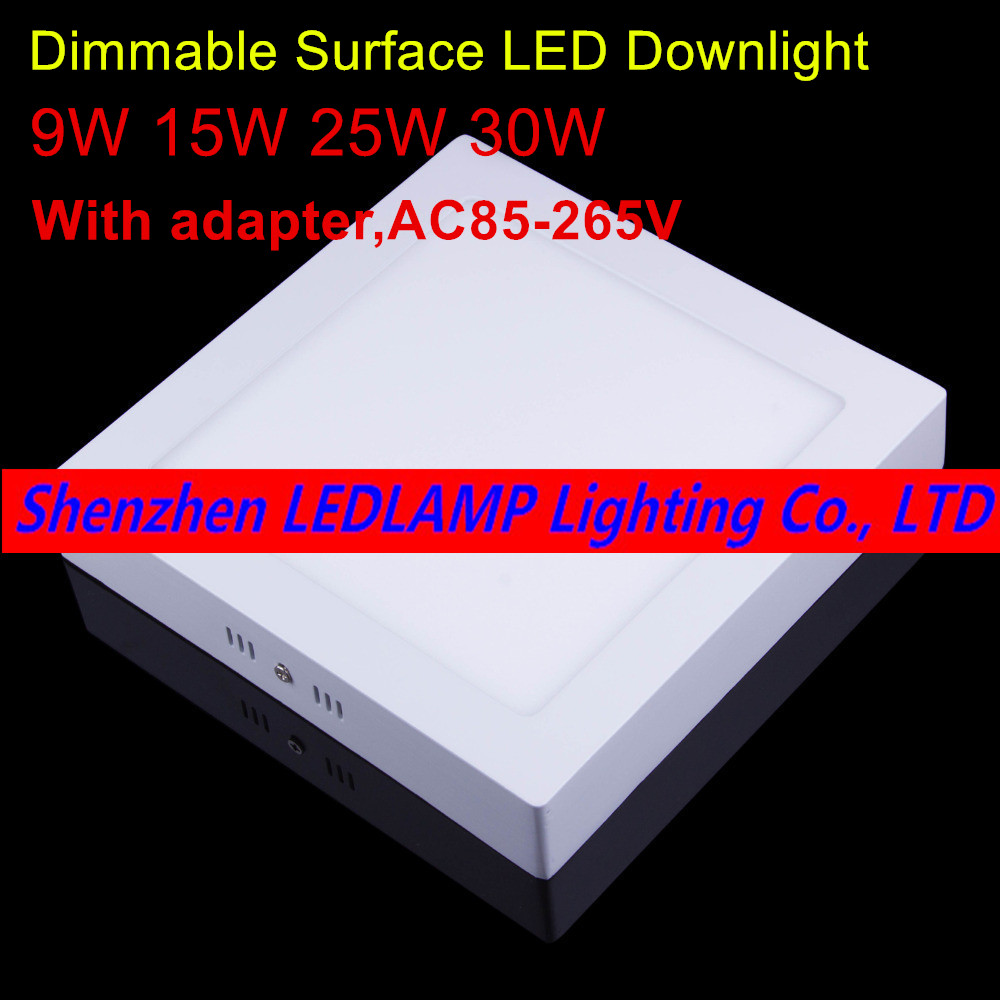 Aliexpress.com : Buy No Cut Ceiling 9w 15w 25w 30w Surface Mounted Led  Downlight Square Panel Light Dimmable Ceiling Down Lamp Kitchen From  Reliable Lamp ...