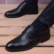 Men Formal Business Split leather Dress office Shoes comfortable Gentleman shoes business wedding