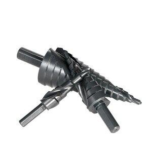 Image 4 - Набор быстрорежущих кобальтовых ступенчатых сверл 3 шт. 4 32 мм, высокоскоростная стальная спираль для металлического конуса, треугольного хвостовика, резак для отверстий