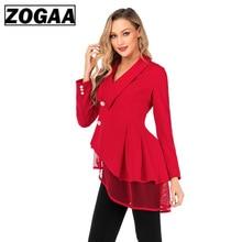 купить Autumn Spring Women Single Breasted Trench Coat  Red Fashion Mesh Hem Irregular Casual Office Lady Business Short Outwear  Lace онлайн
