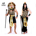 ROLECOS Egyptian Pharaoh Cleopatra Men and Women Cosplay Costumes Couples Halloween Cosplay Costumes Unisex Cospaly Clothing