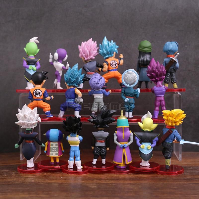 Dragon Ball Super Son Goku Gohan Vegeta Zen o Jaco Trunks Mai Zamasu Grand  Priest PVC Figures Toys 18pcs/set