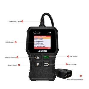 Image 3 - Launch X431 Creader 319 CR319 Auto Code Reader Full OBDII EOBD Automotive Diagnostic Tool OBD2 Scanner as Creader 6001 CR3001