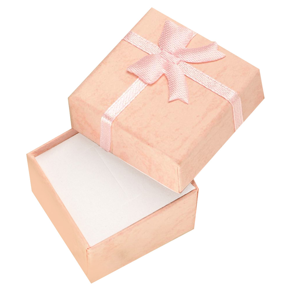 Cheap+Free shipping 4*4*3cm jewelry purple earring bracelet ring small gift box pink square carton bow case ES4543