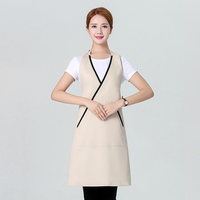 Nail Restaurant Coffee Shop Waitress Apron Black Beige Brief Adult Woman Home Household Waiter Work Aprons Kitchen Accessories