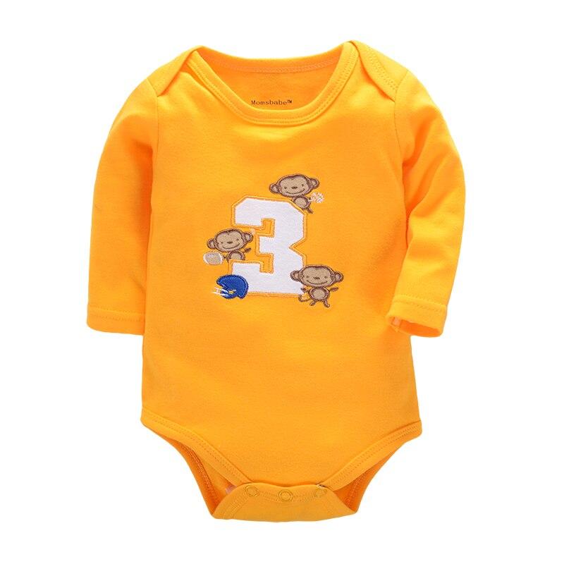 d1ce9a377 100% Algodón Recién Nacido Ropa Para Bebés de Algodón 3 unids/lote Cuerpo  Corte Siguiente Infantil Niño Niña Pijamas Ropa Ropa Interior Del Bebé de  Manga ...