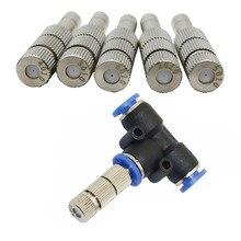 0,2-0,6 мм распылитель для запотевания, быстроразъемный разбрызгиватель, нажимное распылительное сопло низкого давления с фильтром, 3 шт
