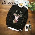 2016 New Men Casual Sweater with Deer Mens Printing Wool Pullover Christmas Sweater Winter Style Knitted Sweaters Men Clothing
