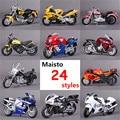 1:18 maisto diecast y aleación de juguete modelo de la motocicleta yamaha kawasaki honda ducati moto de simulación miniatura car toys brinquedos
