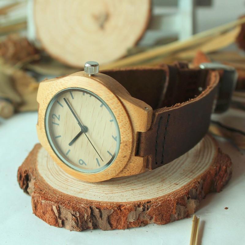 37mm BOBO BIRD Top Luxury Brand Watches Women Bamboo Watches