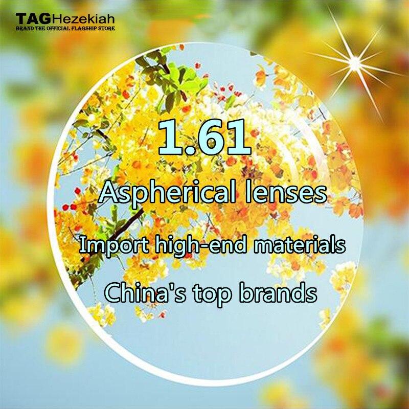 TAG Hezekiah 1.61 lentille de prescription de marque de haut niveau asphérique lentille en résine de myopie optique rayonnement ultra-clair ultra-léger