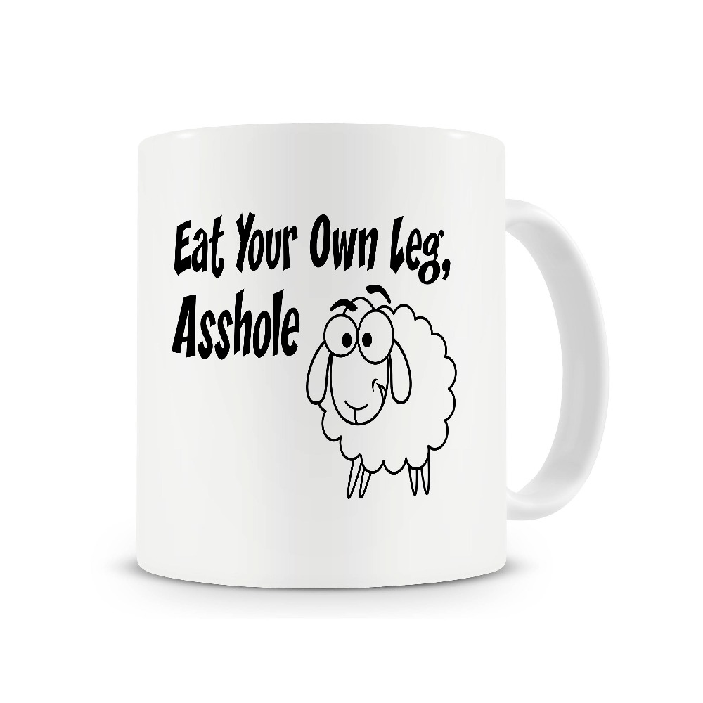 Vegetarian Gifts Eat Your Own Leg Mug friends Gift coffee mugs ceramic Tea mugen home decal
