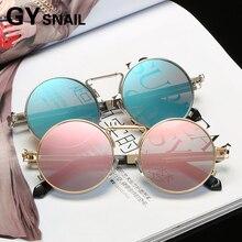 GYSnail Fashion Women Brand Designer Unique Metal Frame Men Sunglasses Oculos Round sunglasses colorful RETRO SUNGLASSES