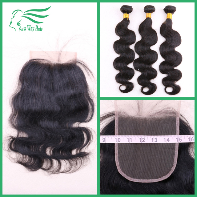 7A Grade Virgin Human Hair Brazilian Body Wave With 5x5 Lace Closure 100% Unprocessed Body Wave Human Hair Extensions