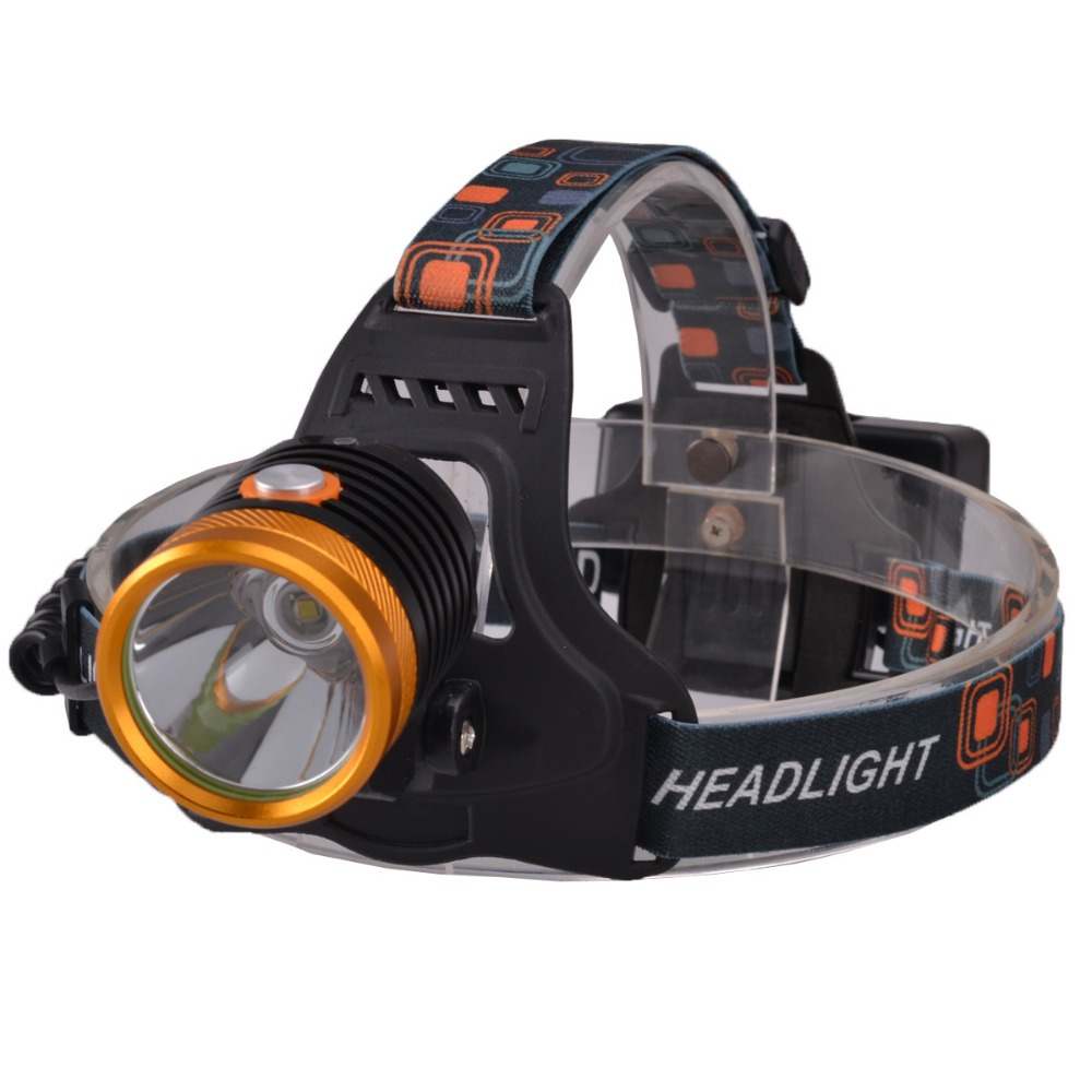 SingFire SF-644 Rechargeable 910lm 3-Mode Dual Switch White Headlamp w/ CREE XML T6 by 18650 Battery singfire sf 558b 200lm 4 mode white green led zooming headlight blue 2 x 18650
