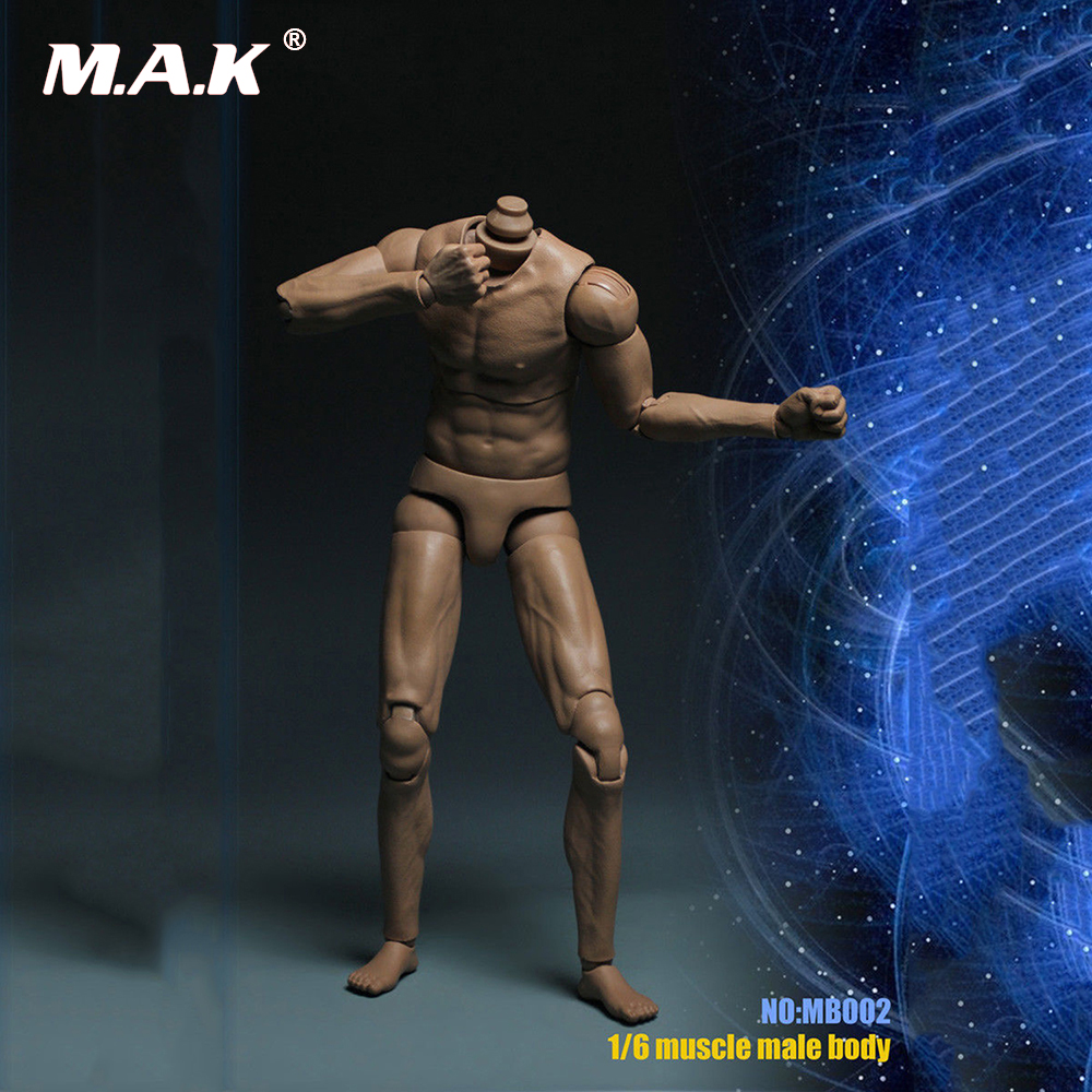 1/6 Muscle Male Action Figure Body Double Joint Man Body Model Toy fit 1:6 Scale Head Sculpt 1 6 scale nude male body figure muscle man soldier model toys for 12 action figure doll accessories
