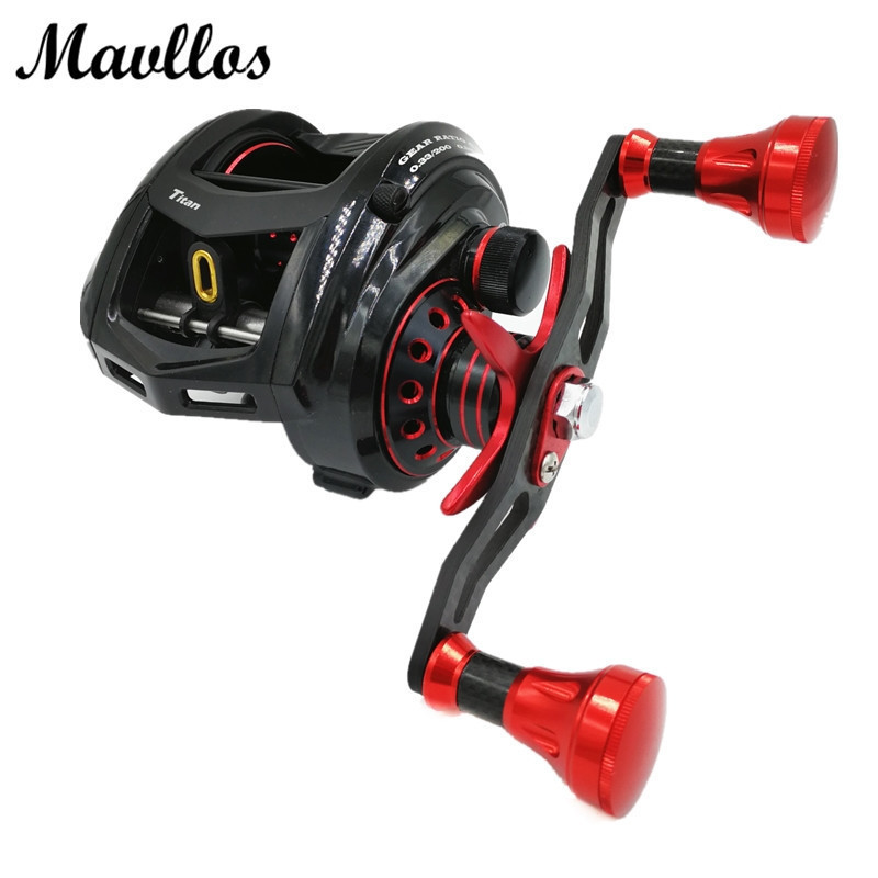Mavllos 14Kg Max Drag 7.1:1 Large Profile Baitcasting Reel Left Right Hand Metal Saltwater Bait Casting Jigging Fishing Reel trulinoya full metal body baitcasting reel 7 0 1 10bb carbon fiber double brake bait casting fishing reel max drag 7kg